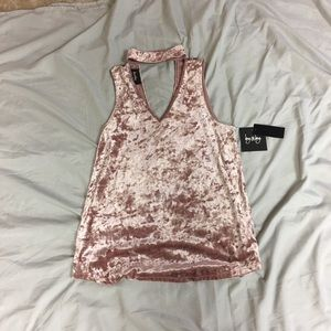 By&by velvet tank top NWT